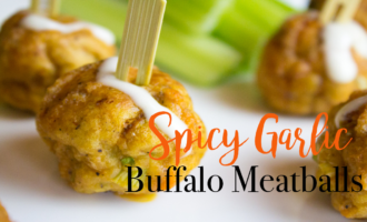 Spicy Garlic Buffalo Meatballs Super Bowl