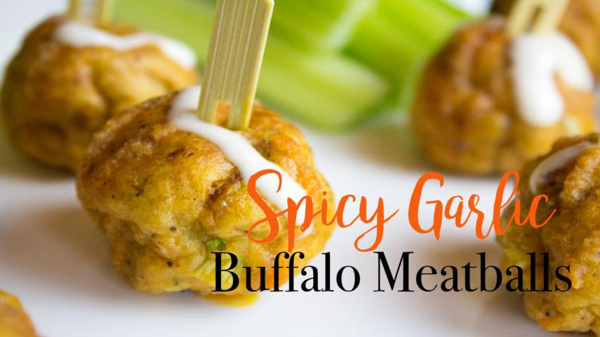 Spicy Garlic Buffalo Meatballs Super Bowl