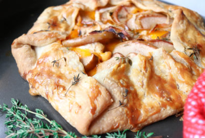 How to Make an Easy Savory Apple Chicken Cheddar Galette