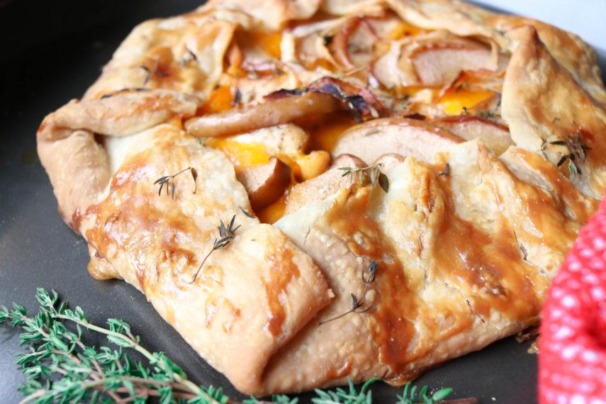 Savory Apple Chicken Cheddar Galette