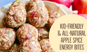 How to Make Kid friendly all natural Apple spice energy bites