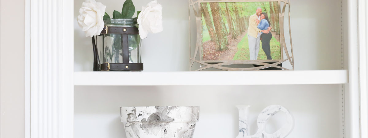 How to use the Marble Technique to create Marbleized Flower Pots