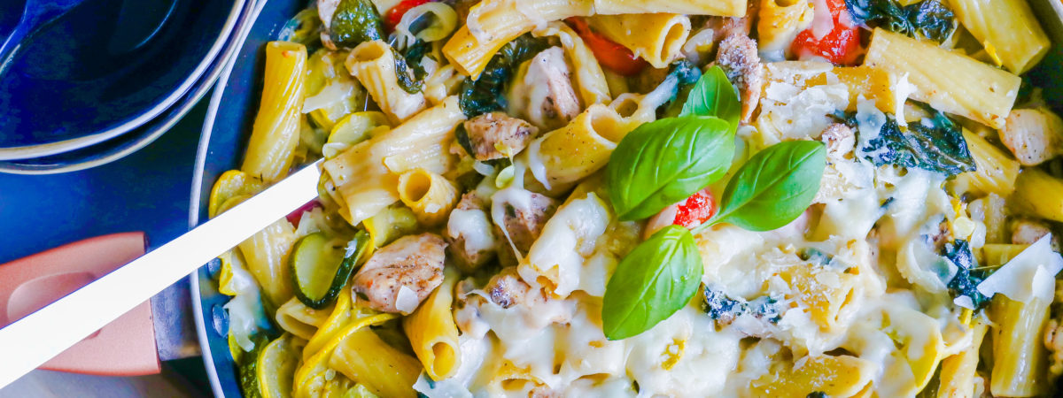 Easy Chicken Rigatoni One Pot Meal