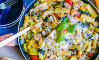 chicken rigatoni one pot meal