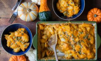 the best pumpkin macaroni and cheese cauliflower