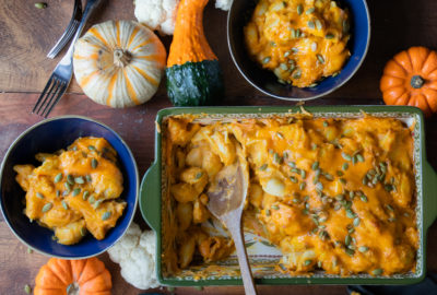 the best pumpkin macaroni and cheese cauliflower