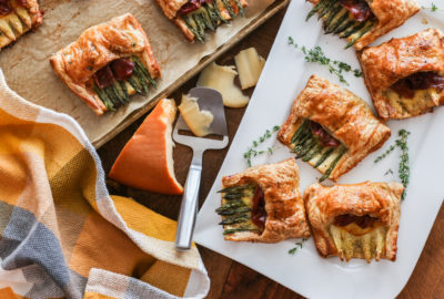 How to make Easy Asparagus Puff Pastry Pocket Squares