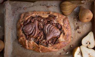 Fall Pear Mascarpone Galette Dessert