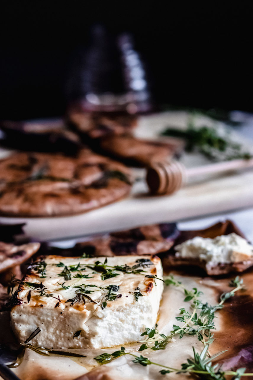 Honey Baked Feta with Rosemary and Thyme