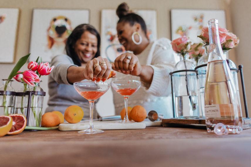 Raspberry Rose Splash Cocktail