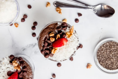 German Chocolate Chia Pudding
