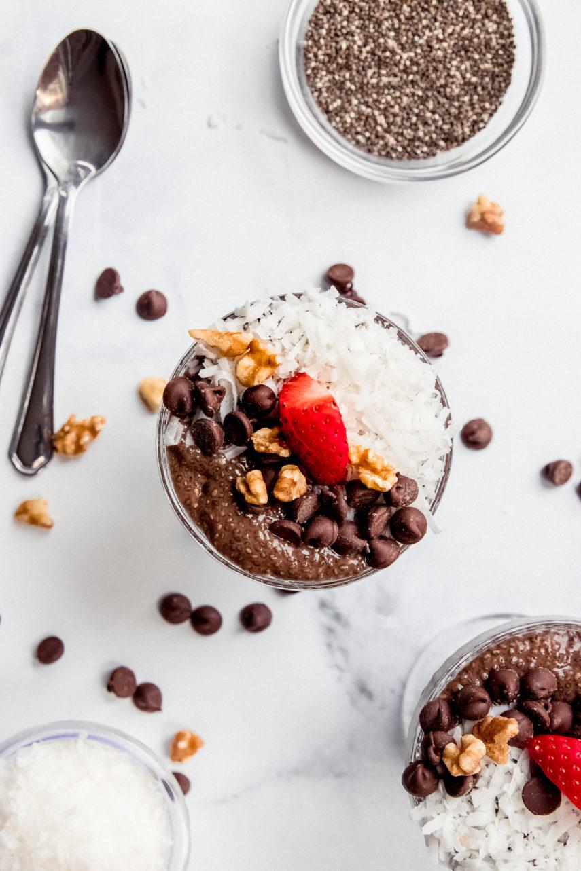 German Chocolate Chia Pudding