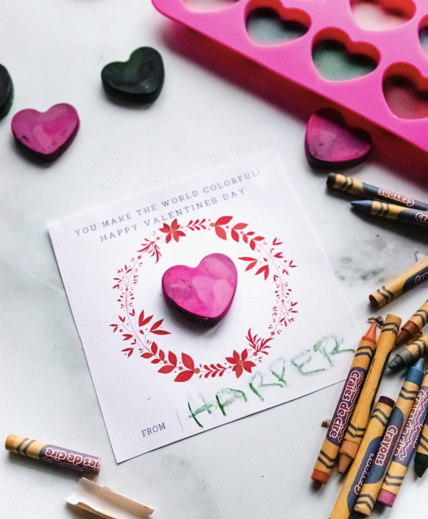 How to make DIY heart shaped crayons