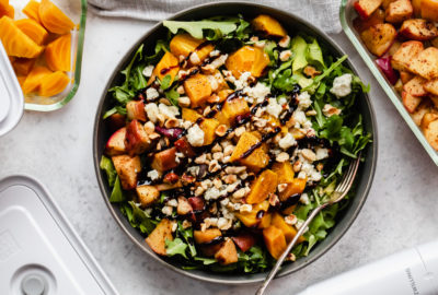 Golden Beet and Arugula Salad with Fried Apples