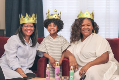 Naturalicious Wash Day for Kids, three generations of black women