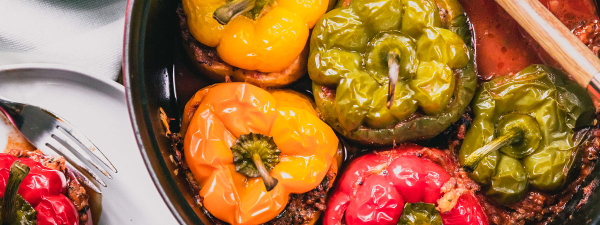 Easy Cajun Style Stuffed Bell Pepper Recipe