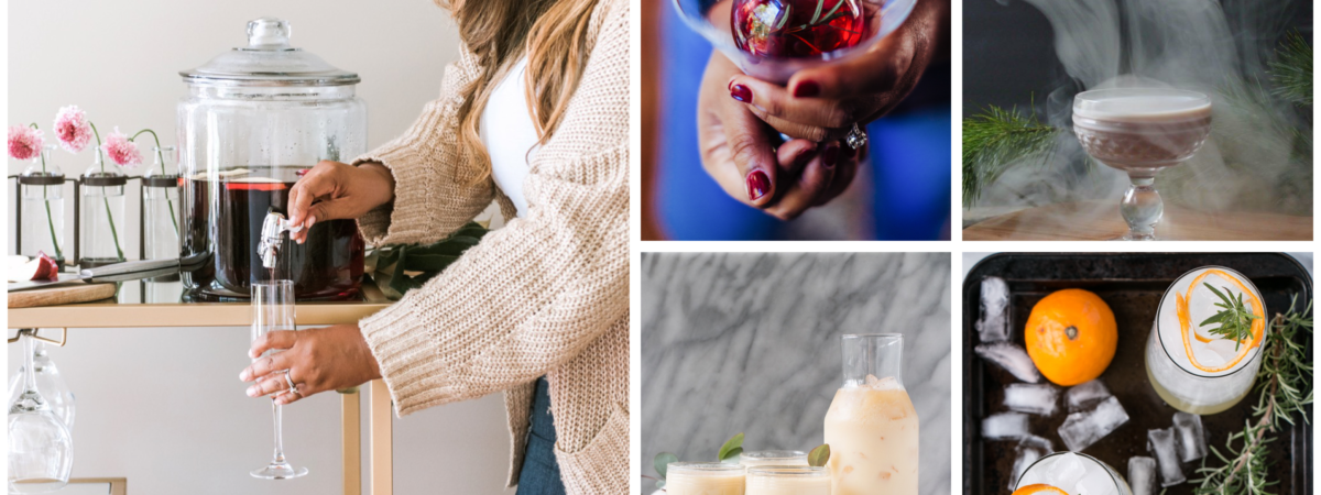 Pretty Conversation Starter Holiday Cocktail Roundup