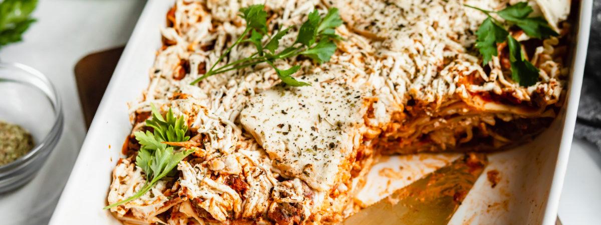 Vegan Meat Replacement Lasagna