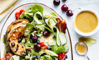 Grilled Summer Salad with Honey Dijon Champagne Vinaigrette