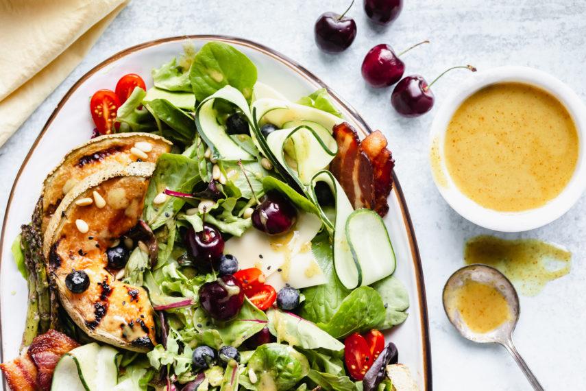 Grilled Summer Salad with Honey Dijon Champagne Vinaigrette