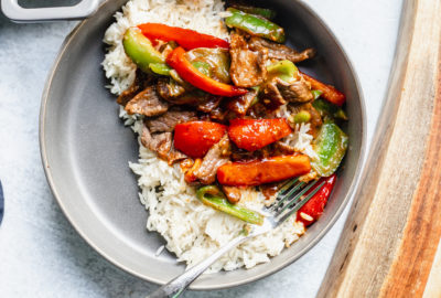 One Skillet Pepper Steak