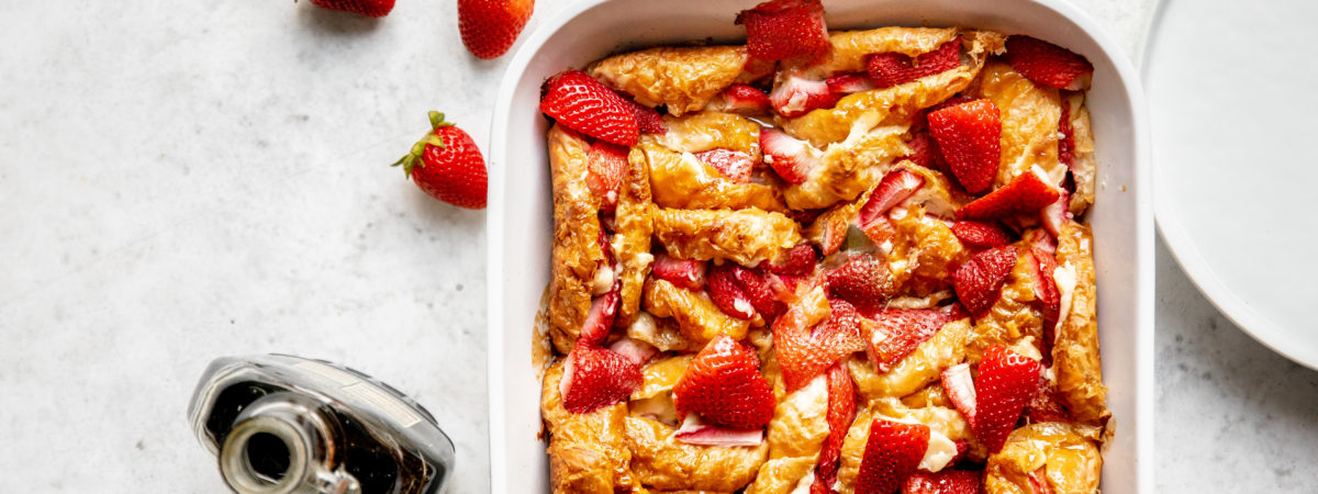 Strawberry Croissant Breakfast Casserole